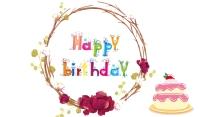 Birthday Etykietka doczepna template