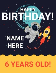 BIRTHDAY Flyer (US Letter) template