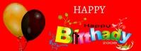 Birthday Facebook-omslagfoto template