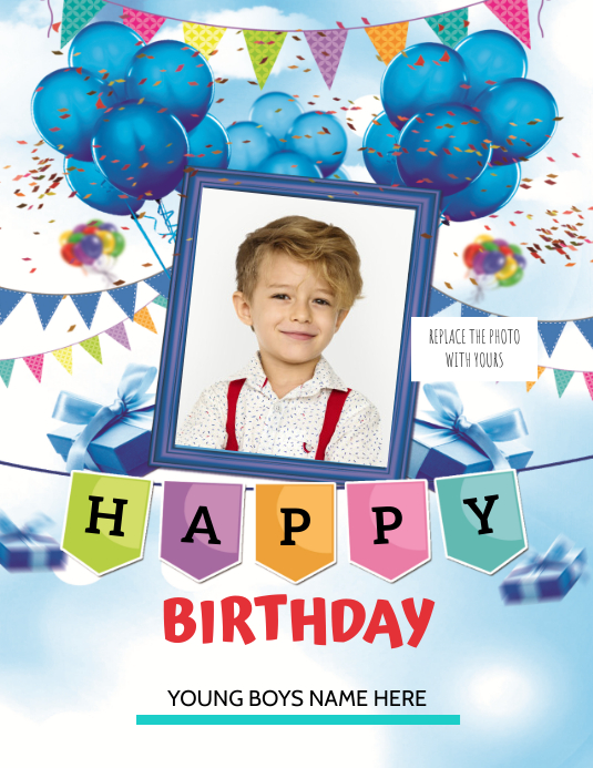 BIRTHDAY Ulotka (US Letter) template