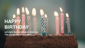 Birthday Facebook Cover Video (16:9) template