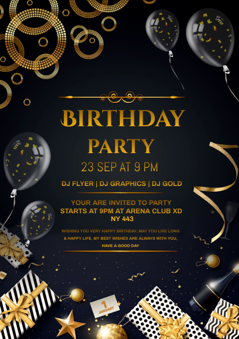 Birthday A4 template
