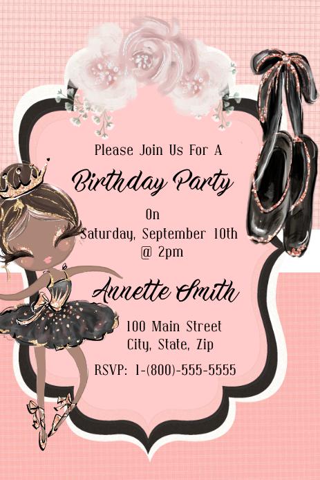 Birthday Grafik Pinterest template