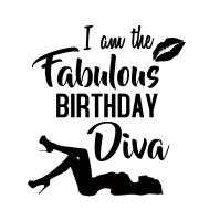 BIRTHDAY DIVA TSHIRT