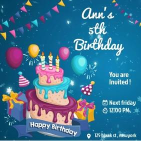 Birthday editable flyer template