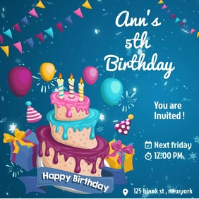 Birthday editable flyer template