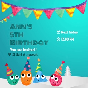 Birthday editable online invitation template