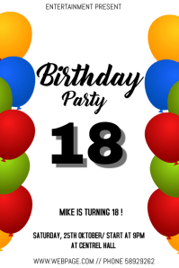 Birthday event flyer template
