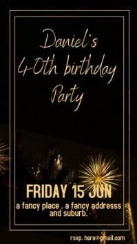birthday fireworks instagram story