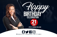 Birthday flyer Étiquette template
