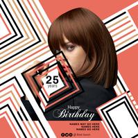 birthday flyer Album Cover template