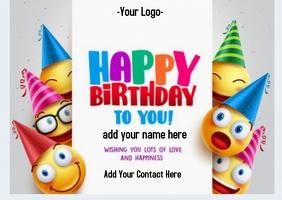 birthday flyer Poskaart template