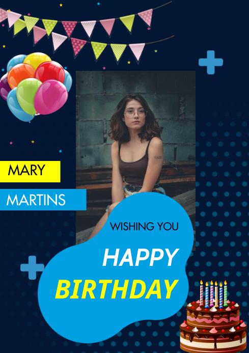 birthday flyer A3 template
