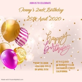 BIRTHDAY FLYER Instagram Post template