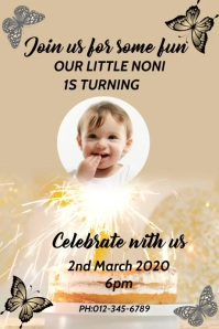 BIRTHDAY FLYER Poster template