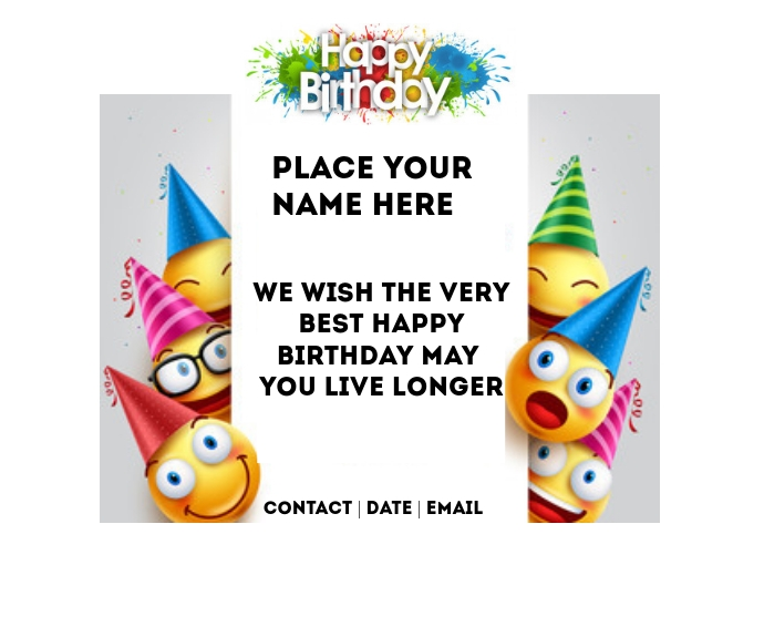 birthday flyer Medium na Rektangle template