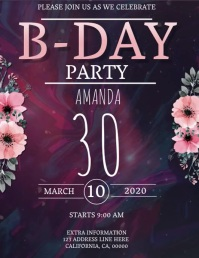 BIRTHDAY Flyer DIGITAL Template