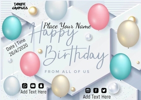 Birthday flyer Party Poskaart template