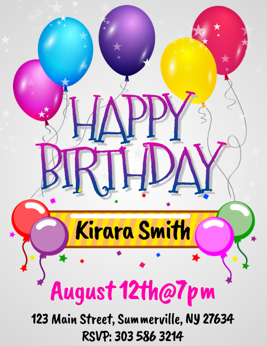 birthday flyer template postermywall