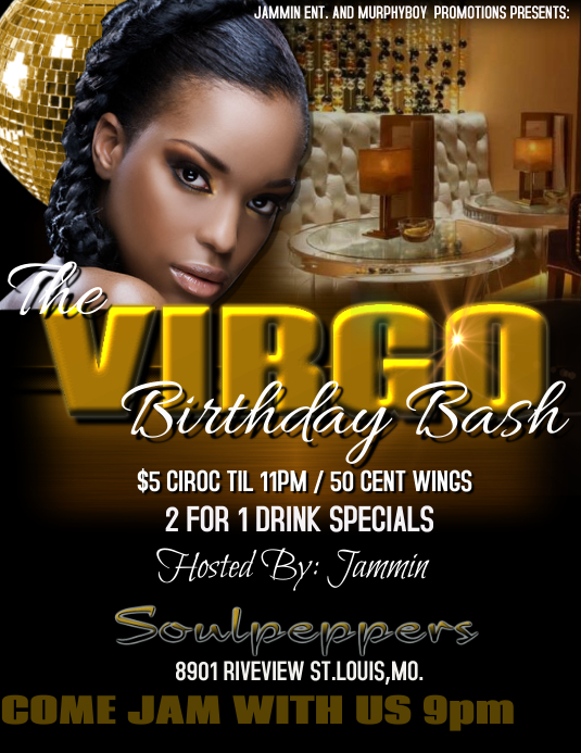 copy of birthday flyer