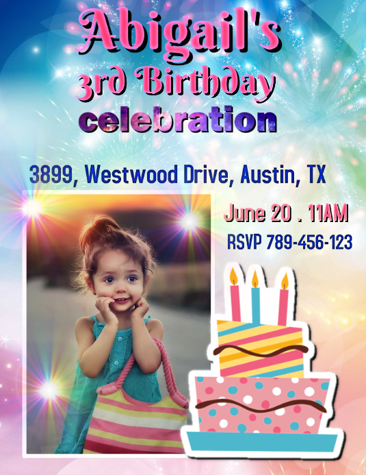 Birthday Template Flyer (US Letter)
