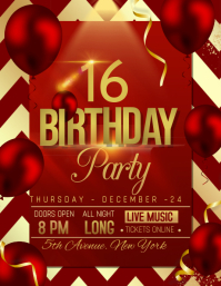 Birthday flyers,event flyers,party flyers