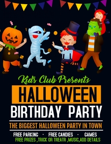 birthday flyers,Halloween flyers,event