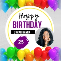 birthday flyers Message Instagram template