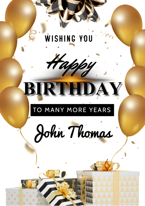 Birthday Flyers A3 template