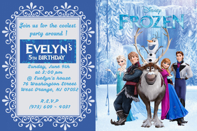 BIRTHDAY FROZEN INVITATION