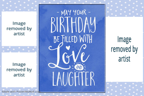 Birthday Gift Poster Little Boy Party Poster Birthday Party