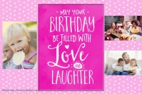 Birthday Gift Little Girl Poster Birthday Party Friends