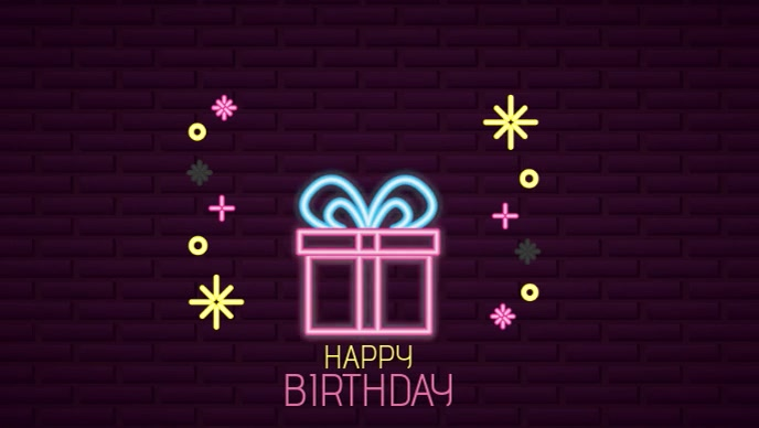 Birthday Gift Premium Video Template Postermywall