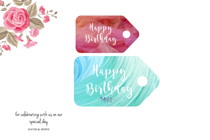birthday gift wish tag