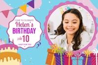 Birthday Girl Banner Poster template