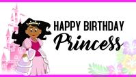 Birthday girl birthday princess pink card template
