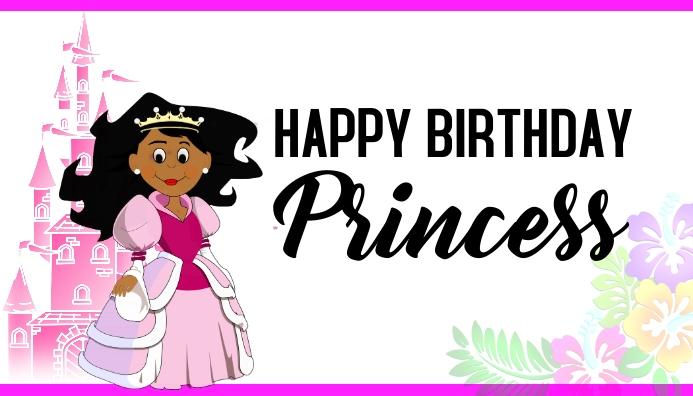 Birthday girl birthday princess pink card Visitkort template
