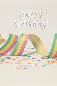 Birthday greetings Tumblr Graphic template