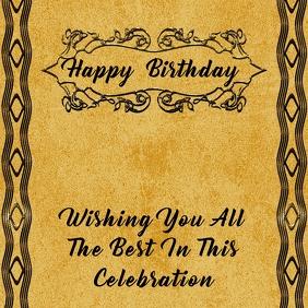 Birthday Instagram Card