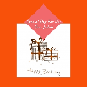 Birthday Instagram Card Template