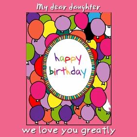Birthday Instagram Card Template
