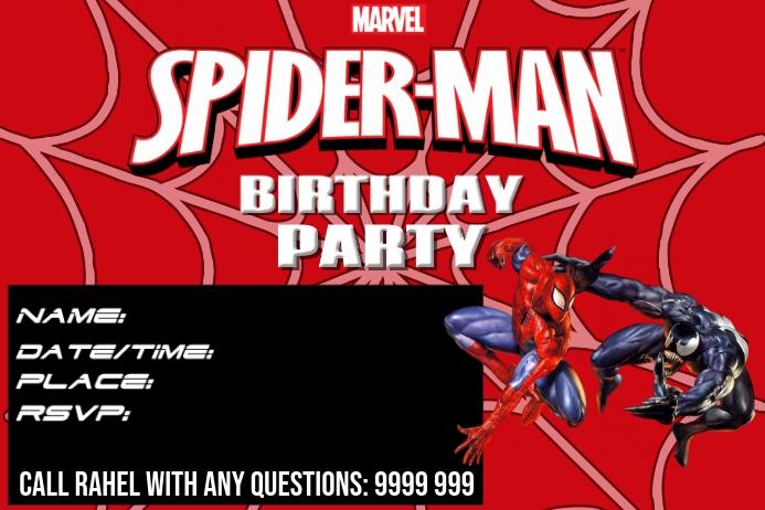 BIRTHDAY INVITATION Affiche template