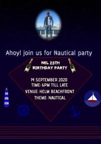 birthday invitation A4 template
