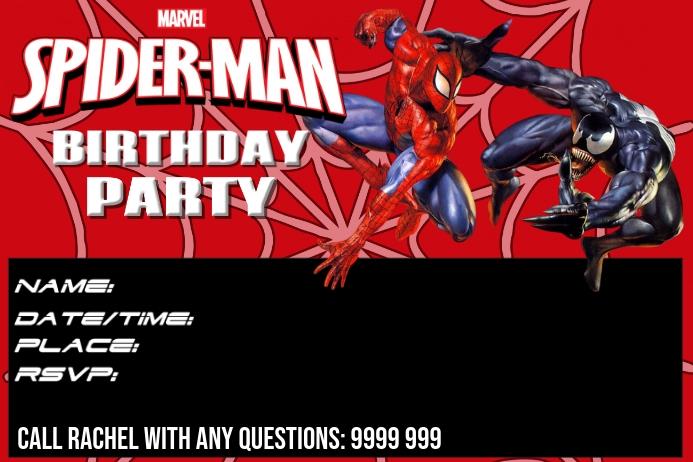 BIRTHDAY INVITATION โปสเตอร์ template