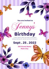 birthday invitation A5 template