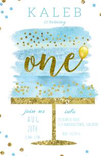 BIRTHDAY INVITATION Wide Setengah Halaman template