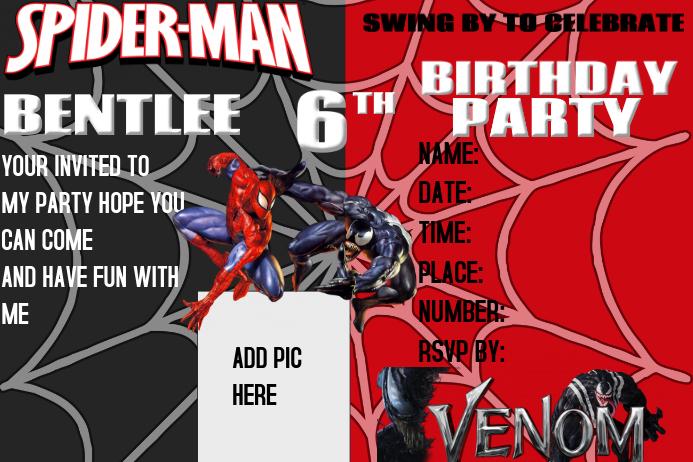 BIRTHDAY INVITATION Poster template