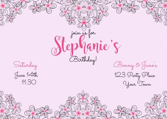 Birthday Invitation Postcard