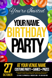 Birthday Invitation Poster