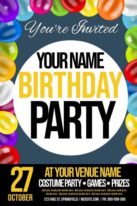 Birthday Invitation Poster